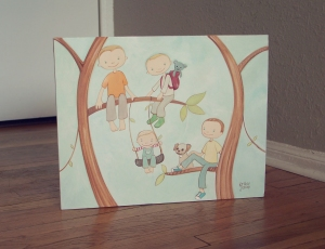 """Tree Climbers"" by Erika Jessop"